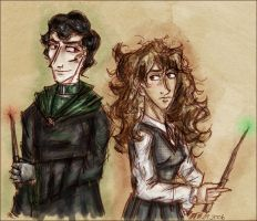 Riddle and Granger by tamerofhorses