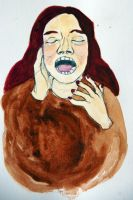 Yawning Woman by looking-glass-pear