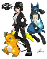 PCOM: Ker, Lucario and Raichu by Jeshika-Haruno