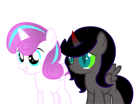 Flurry Hearts and Princess Nyx by xMusicHeartsx