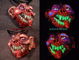 Zomboy Pendant by Undead Ed Glows in the Dark 2 by Undead-Art