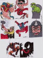 COMIC SKETCH CARDS IN COLOR 6 by shawncomicart