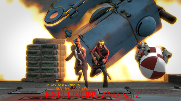 [SFM] Explosions and Shiz (Movie Poster version) by GoldenDoop