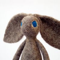 Spring Rabbit Henrietta - close up by Poopycakes-makes
