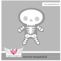 Skull Plush Template by Digital-Indulgence