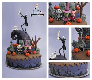 Nightmare Before Xmas Cake by The-Nonexistent