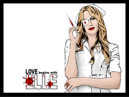 Love Begins With Elle Desktop by glitterfiendling