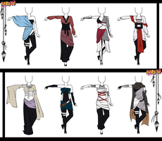 Naruto Adoptable Outfit Set 9 - Closed by Orangenbluete