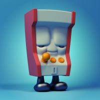 Arcade Machine Vinyl Toy by Wetterschneider