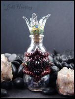 Lily Potion - a glass bottle with polymer clay by andromeda