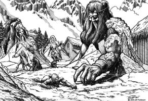 Frost Giants Attack by faile35