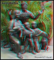Australia Zoo 001 3D anaglyph version by zippy6234