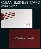 Clean Business Card by dimplegal