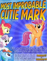 Most Improbable Cutie Mark Contest Poster by DANMAKUMAN