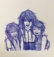 Mom and the kids by TheLadyOfBlack