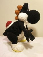 Crocheted Black Yoshi 1 by aphid777
