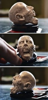 Finished zombie head by asconch