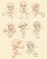 Gintama Cuties by piku-chan