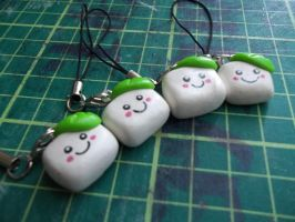 Tofu Phone Charms by Vinnie14
