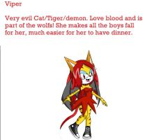 Viper The cat-tiger-demon by goicesong1