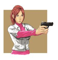 Request - Claire Redfield Degeneration - Color by Mick-cortes