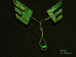 circuit wings necklaces by veykava
