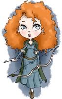 princess merida by littletelevision