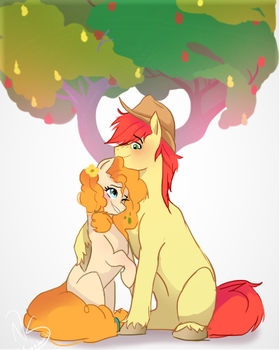 Apple and Pear love by nederside