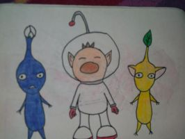 Olimar and Pikmin by tinybrain