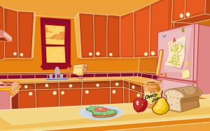 Kitchen Background by kellistrator
