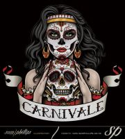 Carnivale Day Of The Dead Gypsy Logo by Sam-Phillips-NZ