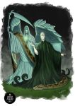 Valdemort and your friend Nagini by UandersonPereirArts