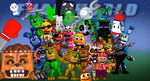 FNaF World Chaos Season 1 Wallpaper by EpicKC01Gamer