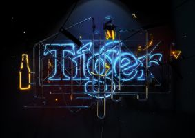 Tiger Translate Neon by onrepeattt