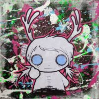 bambi gurl on canvas by Pagerz