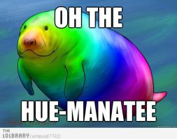 Oh! The Hue-manatee! D: by ATrainbow-wolf