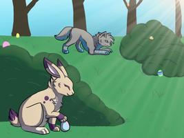 Easter Egg Hunt by Wolf-Alpha