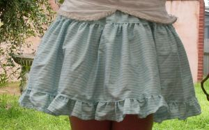 Blue stripe lolita skirt by sharvani