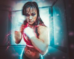 Seeing Red : MMA Michelle Waterson V.2 by NO-LooK-PaSS