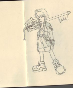 Kingdom Hearts Sora by aestheticartist