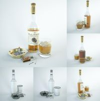 Set of glamorous alcoholic by HorheSoloma