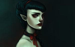 Dark elf by Vixen-of-Vines