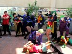 OTAKON 2012-Rogue Gallery-Joker/Robin beatdown by DoctorTonyStarkWho