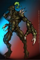 scetch demon in color by bearcavestudios
