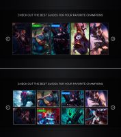 League of Legends guide interface by PaulDoK