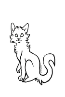 Sitting cat Lineart by collie-rado