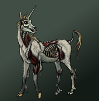 Happy Zombie Unicorn by Amagire