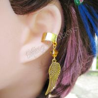 Gold Wing Ear Cuff by merigreenleaf