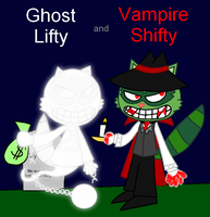 Ghost Lifty and Vampire Shifty (Digital) by PogorikiFan10