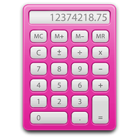 pink calculator by vector-assassin